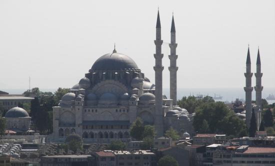 Perfil de la mezquita de Süleymaniye