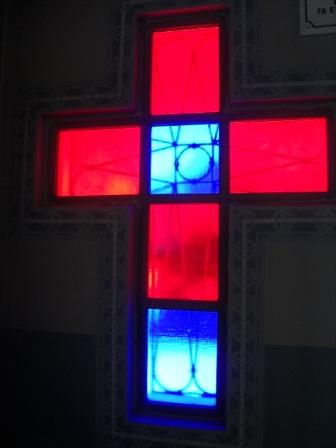 Cruz en el interior de la capilla Foto: Miguel Ángel Otero Soliño