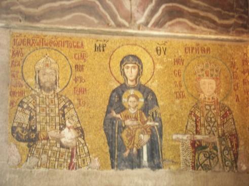 Mosaicos bizantinos Santa Sofía