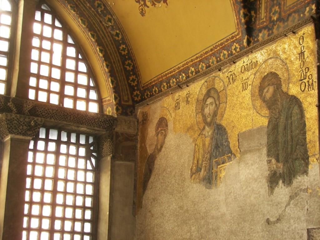 Mosaicos Bizantinos en la Basilica de Santa Sofía en Estambul