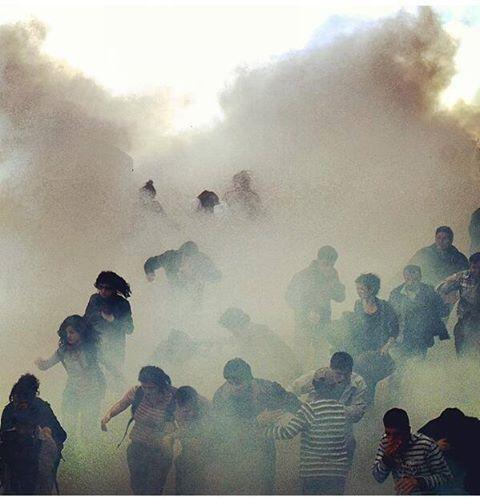 Gas lacrimogeno en Estambul