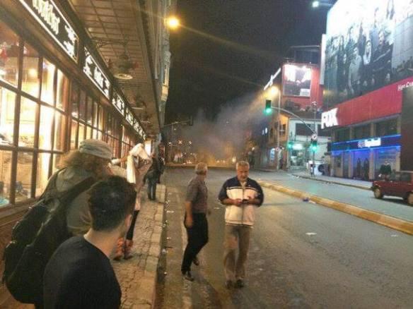 Ortakoy durante los disturbios