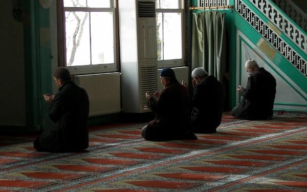 Fieles Mezquita Estambul