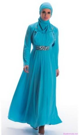 Turkuaz vestido