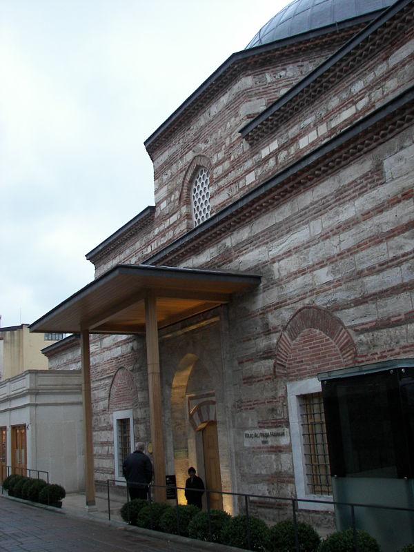 Baño Turco Arquitectura:Los baños de Kılıç Ali Paşa fueron reabiertos recientemente tras