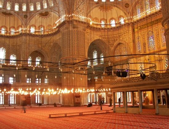 interior ,mezquita azul